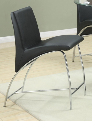 Ophelia Contemporary Vinyl and Metal Pub Stool - Set of 2 - 120809
