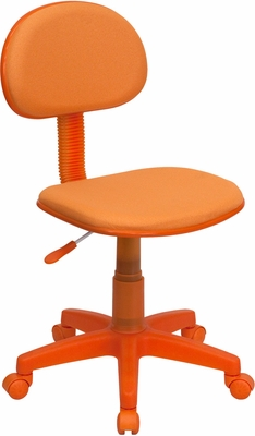 Orange Fabric Ergonomic Task Chair - BT-698-ORANGE-GG