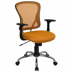 Orange Mesh Executive Office Chair - H-8369F-ORG-GG