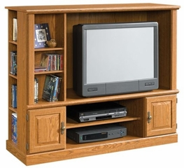 "Orchard Hills 37 1/2"" Wide Entertainment Center with Side Storage Carolina Oak - Sauder Furniture - 401476"