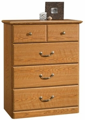 Orchard Hills 4-Drawer Chest Carolina Oak - Sauder Furniture - 401291
