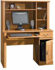 Orchard Hills Computer Desk with Hutch Carolina Oak - Sauder Furniture - 401353