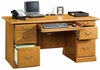 Orchard Hills Executive Desk Carolina Oak - Sauder Furniture - 401822