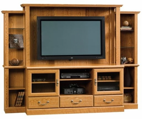 Orchard Hills Home Theater Carolina Oak - Sauder Furniture - 402743