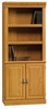 Orchard Hills Library with Doors Carolina Oak - Sauder Furniture - 402173