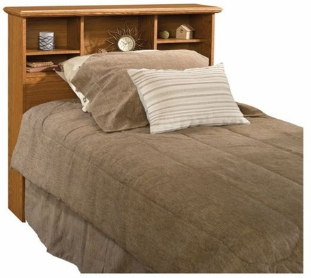 Orchard Hills Twin Bookcase Headboard Carolina Oak - Sauder Furniture - 401293