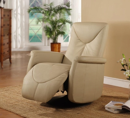 Orion Top Grain Leather Recliner That Swivels - Rissanti Recliner Chairs - B832