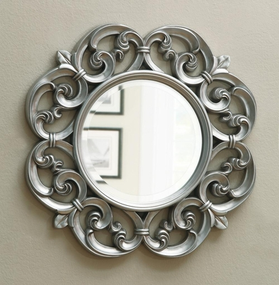 Ornate Round Mirror - 900699