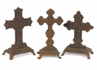 Ornate Standing Crosses (Set of 3) - IMAX - 7266-3