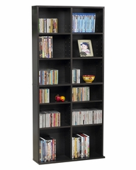 Oskar Media Cabinet 464 CD or 228 DVD in Espresso - Atlantic - 38435719