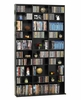 Oskar Media Tower 1080 CD or 504 DVD or Blu-Ray or Games Wood Look Cabinet in Espresso - Atlantic - 38435714