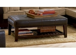 Ottoman in Beige Chenille with Dark Brown - Coaster