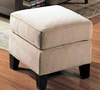 Ottoman in Bella Velvet in Stone Fabric - Coaster