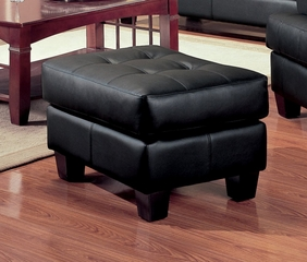 Ottoman in Black Leather - Coaster