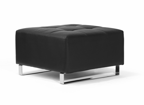 Ottoman in Black - Lincoln Park - BA-LCP-O-FA-BK