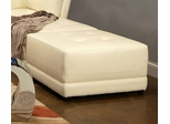 Ottoman in White Leather - Coaster