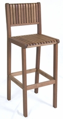 Outdoor Bar Stool - Ibiza Barstool - Eucalyptus Wood - Wood Finish - INT-BT-215
