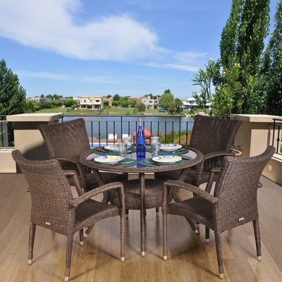 Outdoor Patio Set - Bari 5-Piece Dining Set - PLI-BARI5