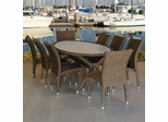 Outdoor Patio Set - Bari 9-Piece Dining Set - PLI-BARI9