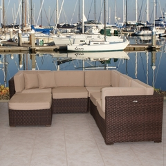 Outdoor Patio Set - Bellagio Sectional 6-Piece Set Deluxe - PLI-BELLSET-SBG