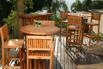 Outdoor Patio Set - Ibiza Bar 4-Piece Set - BT-BAR-SET