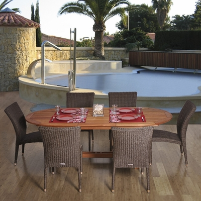 Outdoor Patio Set - Le Mans 7-Piece Dining Set - BT-LEMANS