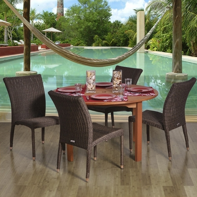 Outdoor Patio Set - Lorrainne 5-Piece Dining Set - BT-LORRAINE
