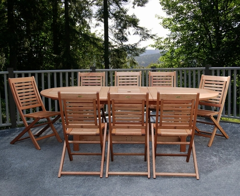 Outdoor Patio Set - Milano Grand Extendable Table 9-Piece Set - BT-GRAND-EXT