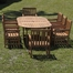 Outdoor Patio Set - Milano Grand Extendable Table 9-Piece Set Deluxe - BT-GRAND-EXT-DELUXE