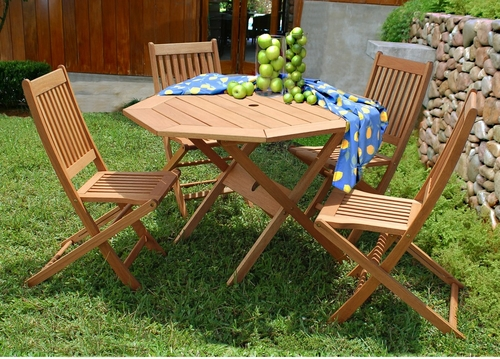 Outdoor Patio Set - Milano Octagon 5-Piece Set - BT-OCTOGON-SET