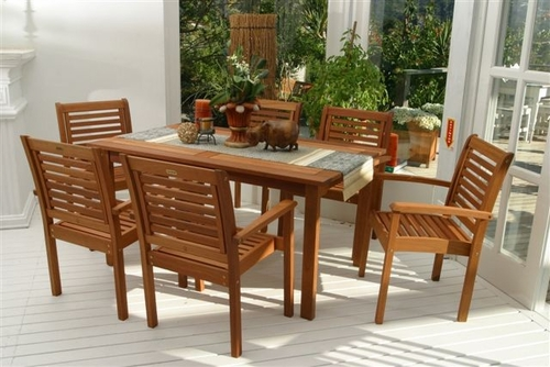 Outdoor Patio Set - Milano Rectangular 7-Piece Set - BT-RECT-SET