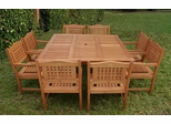Outdoor Patio Set - Milano Square Table 9-Piece Set Porto - BT-SQUARE-PORTO