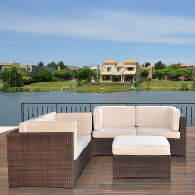 Outdoor Patio Set - Nice Converation 4-Piece Set Off-White - PLI-NICE5OW
