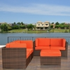 Outdoor Patio Set - Nice Converation 4-Piece Set Orange - PLI-NICE5OR