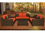 Outdoor Patio Set - Oxford Deep Seating 4-Piece Set Orange - PLI-OXFSET-OR