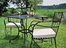 Outdoor Patio Set - Patio Square Table and Chairs Set - Black - Pangaea Home and Garden Furniture - FM-SET-2