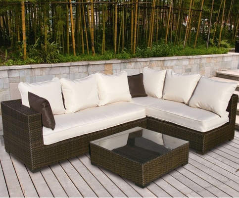 Outdoor Patio Set - Positano Sectional 3-Piece Set - PLI-POSI3