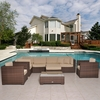 Outdoor Patio Set - Southampton Sectional 9-Piece Set Deluxe - PLI-BELLPRE-SBG