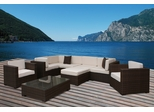 Outdoor Patio Set - Southampton Sectional 9-Piece Set Off-White - PLI-BELLPREOW