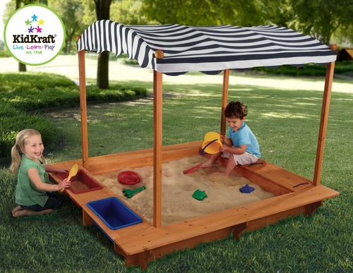Outdoor Sandbox with Canopy - KidKraft Furniture - 00165