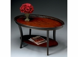 Oval Cocktail Table in Red and Black - Butler Furniture - BT-1591186