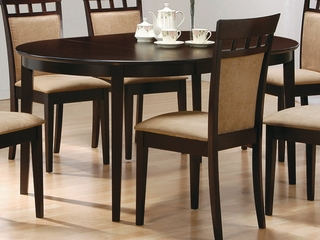 Oval Dining Table in Rich Cappuccino - Coaster