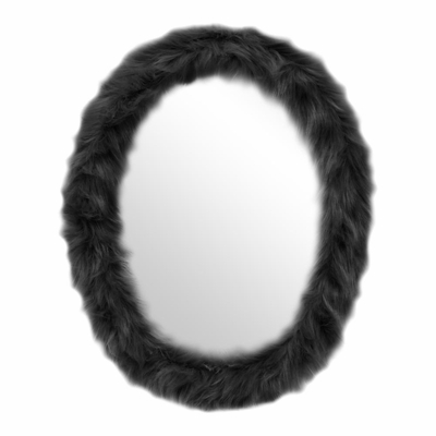 Oval Furr Mirror Black - Lumisource