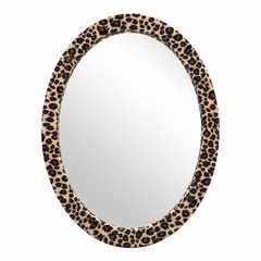 Oval Furr Mirror Leopard - Lumisource