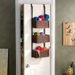 Over-The Door 3-Tier Basket Storage - Holly and Martin