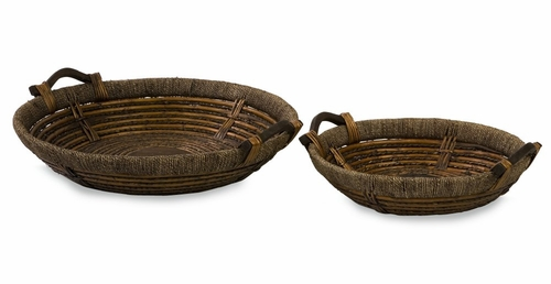 Oversized Willow Trays (Set of 2) - IMAX - 67020-2