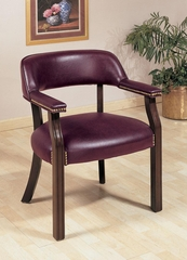 Oxblood Office Guest Chair with Nailhead Trim - 511X