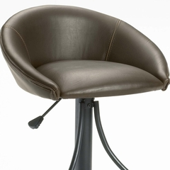 Oxford Adjustable Stool in Black / Brown Vinyl - Hillsdale Furniture - 4274-831