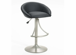 Oxford Adjustable Stool in Silver / Black Vinyl - Hillsdale Furniture - 4274-832