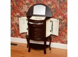 Oyster Bay Half Round Jewelry Armoire - Espresso - Bay Shore
